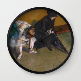 Edgar Degas - Waiting Wall Clock