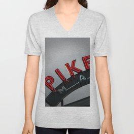 Pike Place Morning Unisex V-Neck