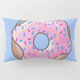 Pink Strawberry Donut Pillow Sham