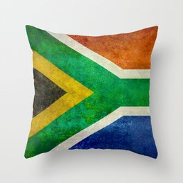 Flag of the Republic of South Africa Throw Pillow