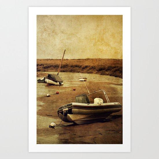 Blakeney Boats 2 Art Print