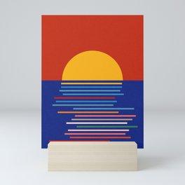 Sunset Sicily Mini Art Print