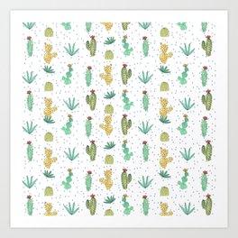 Cactus SERIE - CACTI LOVE Art Print