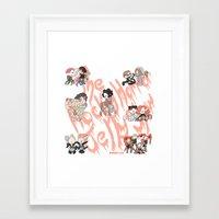 rocky horror Framed Art Prints featuring Rocky Horror Jelly Show by Nekodra