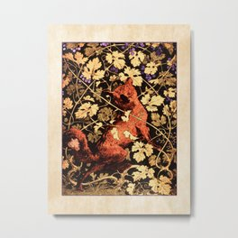 Fox Among The Grapes Metal Print