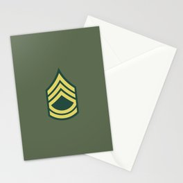 Sergeant First Class (OD Green) Stationery Cards