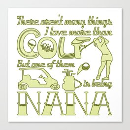 Golf Nana Canvas Print