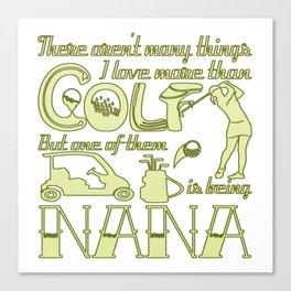 Golf Nana Canvas Print