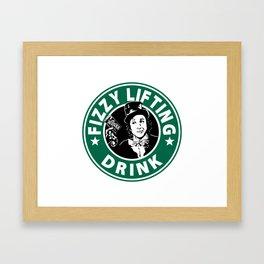 Willy Wonka Starbucks Framed Art Print