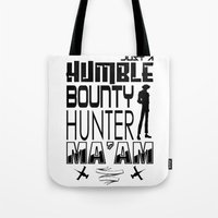 bebop Tote Bags featuring Quote Bebop by AngoldArts