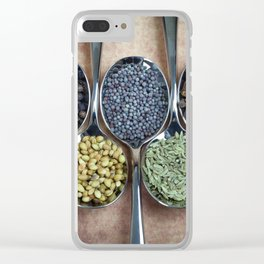 Indian Spices Clear iPhone Case