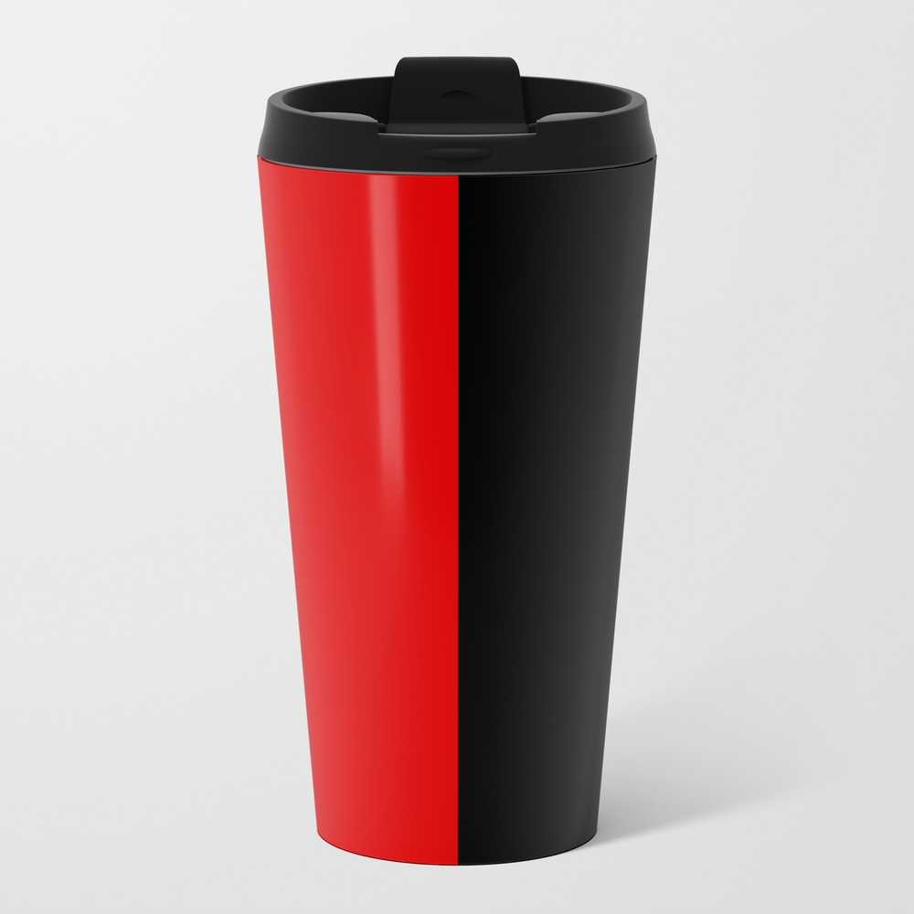 Psychedelic Black And Red Stripes Vii. Travel Mug TRM9053204