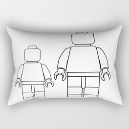 Minifigure Outline Rectangular Pillow