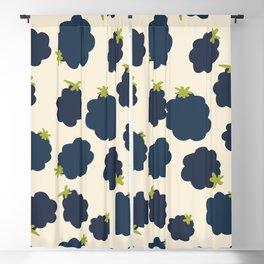 Blackberries Modern Summer Fruit Pattern Blackout Curtain