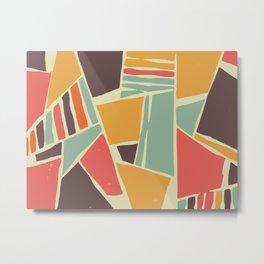 Broken color marble tiles Metal Print