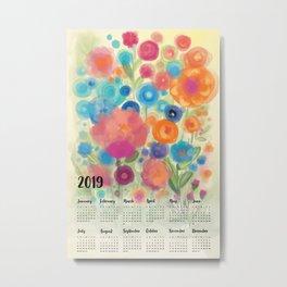 Calendar 2019 by Odette Lager Metal Print