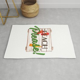 Beach Please Funny Wood Sign With Flip Flops For Beach Lover Rug