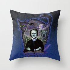 Edgar Allan Poe Gothic Throw Pillow