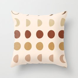 Flow of the Phases Throw Pillow