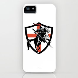 Medieval Knight Jousting Saint Georges Cross iPhone Case