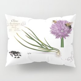 Chives and Pollinators Pillow Sham