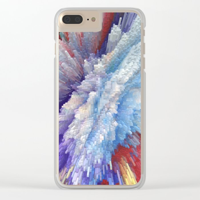 Abstract 115 Clear iPhone Case