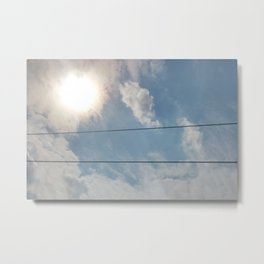 clouds and wire, asrc, no.1 Metal Print