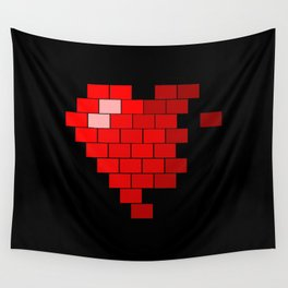 Pixel Heart Failure Wall Tapestry