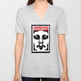 Disobey original logo 2 Unisex V-Neck