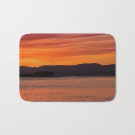 Sundown over Oban Bay Bath Mat