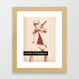 Inspired By Words — Hunter S. Thompson Framed Art Print