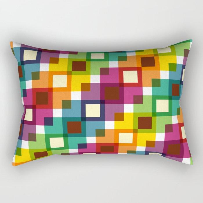 Geometric Pattern 11 (Colorful squares) Rectangular Pillow