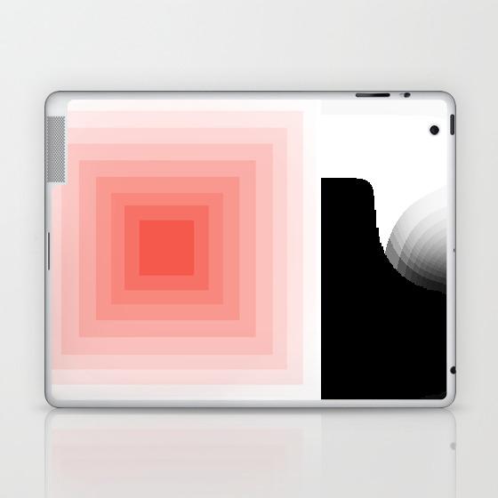 Coral Monochrome Laptop & Ipad Skin by Marsandmoons LSK8664378