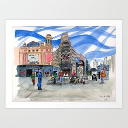 Plaza de Callao Art Print