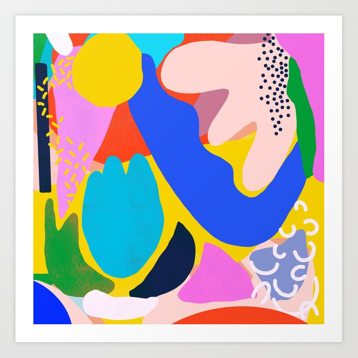 Unbridled Enthusiasm - Shapes and Layers no.38 Art Print