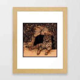 The Tiger's Den Framed Art Print