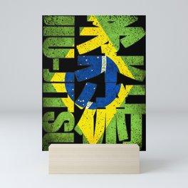 Brazilian Jiu Jitsu, Brasil Jutsu, MMA winner Mini Art Print