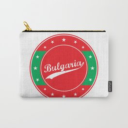 Bulgaria, circle, red Carry-All Pouch