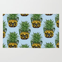 Pineapple French Bulldog Rug