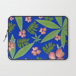 Leaves on Blue Laptop Sleeve