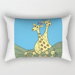 Giraffe Fashion Show  Rectangular Pillow