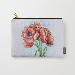 Poppy Flowers Sketch Carry-All Pouch
