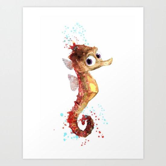 Nemo Seahorse Art Print