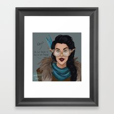 Vex in Percy's Glasses Framed Art Print