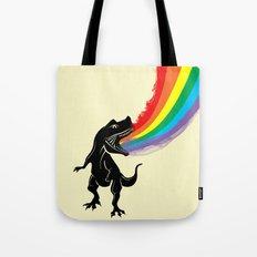 dinosaur rainbow Tote Bag