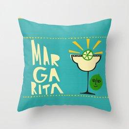Margarita Cocktail Throw Pillow