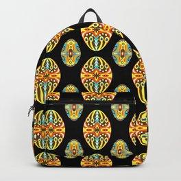 Vintage Easter Egg Pattern Hungarian Design Style Ornament Backpack