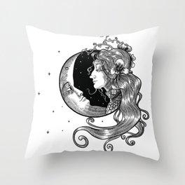 Magic Moonlady Throw Pillow
