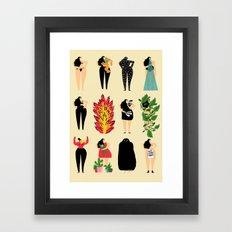 All of us live here Framed Art Print