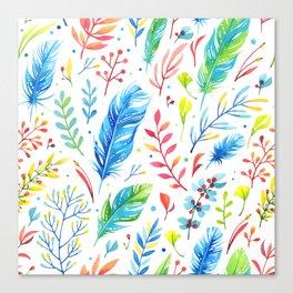 Boho Feathers Canvas Print